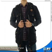 Jaket Motor Parka Kanvas Original Distro for Men - Black