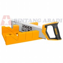 Ingco Gergaji Figura 12' Manual / Back Saw Mitre Box Set - HMBS3001 berkualitas