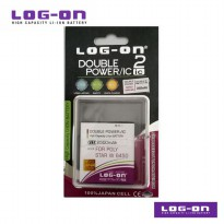 LOG-ON Battery For Polytron Rocket Star W6450 - 2500mAh DoublePower & IC - Garansi 6 Bulan
