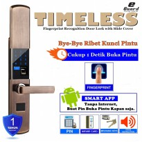 E-Guard Smart Digital Door Lock Quick Fingerprint ID Recognition, Card, PinKuncipintu Digital IdentifikasiSidikJari, Kartu, TidakDenganPemasangan MD1610 [Rose Gold]