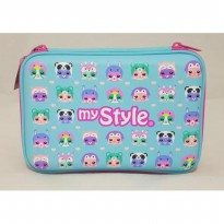 My Style TM 2255 Groovy Animals Hardtop Pencil Case