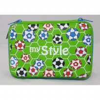 My Style TM 2258 Footballs Hardtop Pencil Case