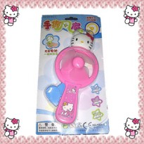 Kipas Angin Baling Pompa Tangan Mini Hand Handy Press Fan Hello Kitty