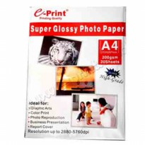 EPRINT GLOSSY PAPER A4 200GR