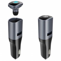 Car Bluetooth Headset with USB Car Charger - BC16