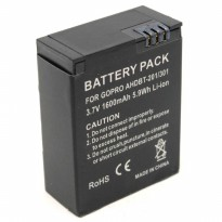 Battery Replacement 1600mAh Baterai GoPro HD Hero 3 - AHDBT-201/301