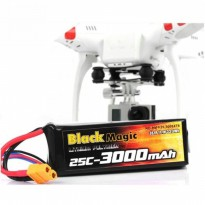 Black Magic Battery LiPo for DJI Phantom CX-20 11.1V 3000mah 25C