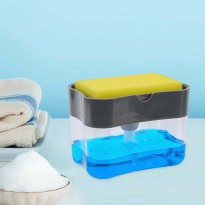 2 In 1 Dispenser Sabun Cair Cuci Piring Dan Tempat Spons - 2 In 1 Soap Pump Sponge Caddy Free Spons