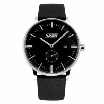 Jam Tangan / SKMEI Casual Men Leather Watch Water Resist 30m - 9083CL