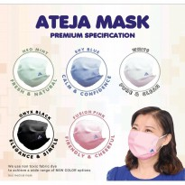 Masker Kain ATEJA MASK 3 Ply Lapis Filter Earloop Non Medis Waterproof Water Repellent Anti Virus Corona Bisa Dicuci Pakai Ulang Washable & Reusable
