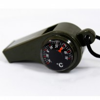 Peluit Multifungsi / 3 in 1 Whistle Compass ( Kompas ) Temperature
