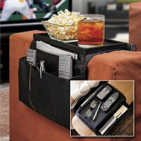 Arm Rest Organizer Sofa Edge Hang Bags - Black