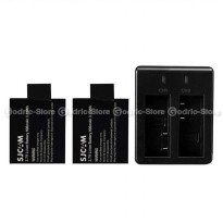 (High Quality) Complete Set Baterai/Battery Charger for SJCAM & BRICA B-PRO5 ALPHA