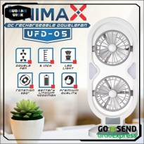 UNIMAX UFD 05 KIPAS PORTABLE DUAL FAN RECHARGEABLE ST0023