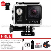 [Terbatas] BRICA B-PRO 5 Alpha Edition Combo Extreme HD 1080p Wifi Action Camera