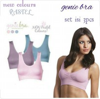 [Free Ongkir] Genie Bra With Pads New Color Pastel [dpt 3 pcs]