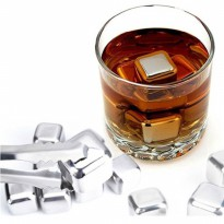 Es Batu Stainless / Reusable Stainless Steel Ice Cube 6Pcs /