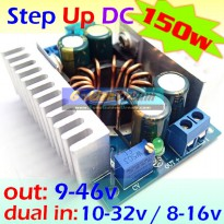 Step Up 150w 8-32v to 9-46v DC Boost Power Driver Charger Penaik Volt