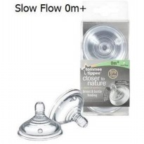 TOMMEE TIPPEE CLOSER TO NATURE NIPPLE 2 PACK - SLOW FLOW (0M+)