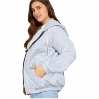 Jfashion Women's BIG SIZE Hoodie Jacket with Pocket - July Hoodie