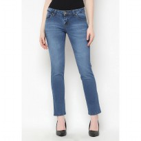 Mobile Power Ladies Straight cut Long Pants Jeans Denim - H1226S