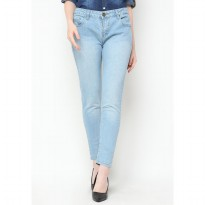 Mobile Power Ladies Jeans Slim Fit Long Pants - Blue Jeans J2880S
