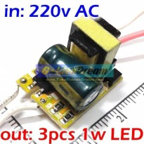 Power Driver for 3x LED 1W input 220V output 9-11V Constant Current Power Supply With Protection