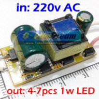 Power Driver for 7x LED 1W input 220V output 12-25V Constant Current Power Supply With Protection .