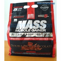 Elite Labs Mass Muscle Gainer 5 Lbs Double Rich Chocolate / 5lb 5lbs berat bulk bulking elitelab elitelabs lb otot protein suplemen suplement supplemen supplement susu
