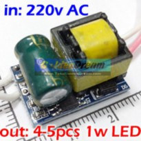 Power Driver for 5x LED 1W input 220V output 12-18V Constant Current Power Supply With Protection