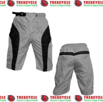 Celana Sepeda Gunung Downhill TREX ENDURO Dual Layer Padding Busa - Grey