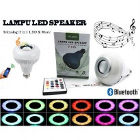 FLECO - LAMPU LED SPEAKER Musik Audio Bluetooth With Remote Portable Best Seller