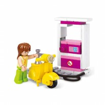 Brick SLUBAN GIRL DREAM M38-B0518 - Gas Station - Mainan Koleksi