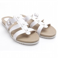 Dr.Kevin Ladies Flat Sandals 27325 White