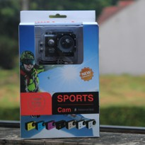 Sports Cam / Action Camera Sport Mini 1080p + Free Tongsis 3 Way