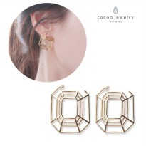 cocoa jewelry Anting Wanita Korea - Urban Lady Gold Color - NO BOX