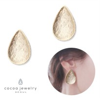 cocoa jewelry Anting Wanita Korea - Eternal Tears Gold Color - NO BOX