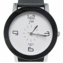 Fashionable Stainless Steel Silicone Band Quartz Watch - JW045-1