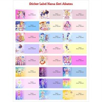Sticker Label Nama Seri Aikatsu