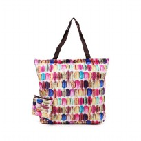 London Berry by HUER - Marvin Packable Shopper Bag Macaroon
