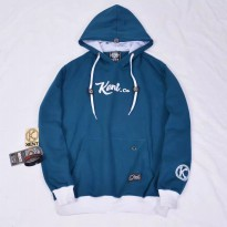 Kent Jaket Sweater Pria Original - KNT 176 Warna Biru Turqoise COTTON
