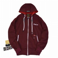 Kent Jaket Sweater ORIGINAL - KNT 168 WARNA MAROON FULL COTTON