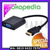(Diskon) Kabel HDMI to VGA Female Adapter