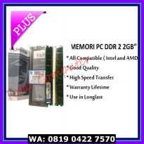 (Murah) Memori Pc Ddr2 2gb Kingston Pc 6400