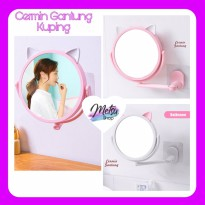Cermin Tempel Gantung Model Kuping Kucing Cute Import - PINK