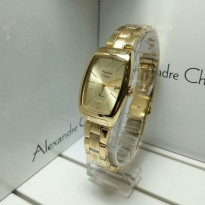 Jam Tangan Alexandre Christie 2456 Full Gold Original