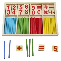 Mathematical Intelligence Stick Ages 3+ - Mainan Kayu Edukasi stik berhitung