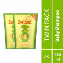 Zwitsal Natural Baby Shampoo Pouch 450 Ml-TWIN PACK