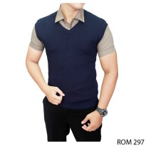 Casual Male Vests Rajut Dongker – ROM 297