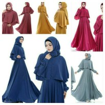 MAXI MONALISA BUSUI SWN WOLLY CREPE FIT TO L